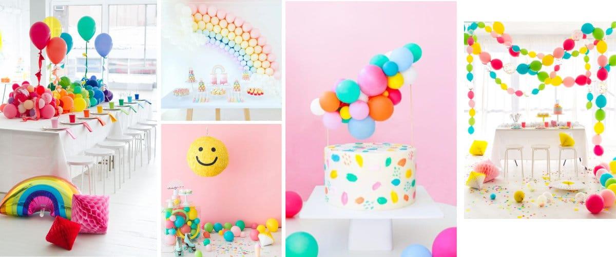 Decoración con globos para cumpleaños