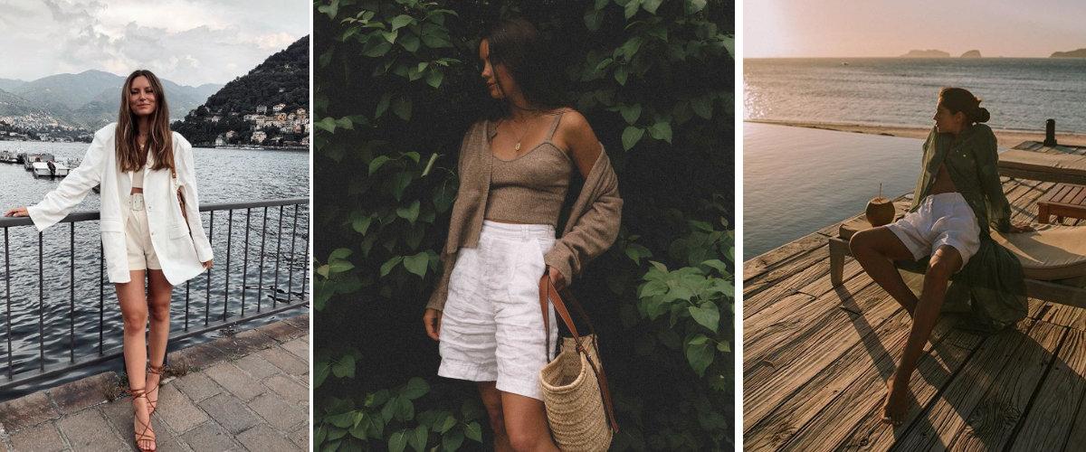 Estilismos con shorts blancos