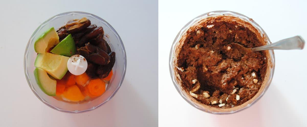 Brownie de zanahoria al microondas