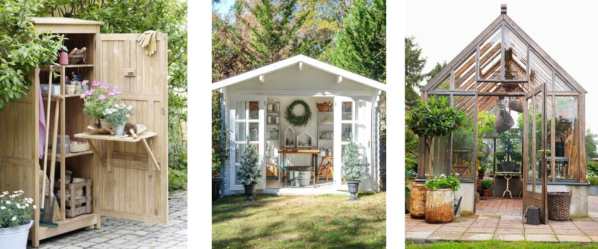 Casetas para útiles de jardinería e invernaderos
