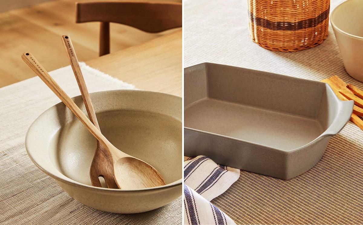 Fuente de horno y bowl