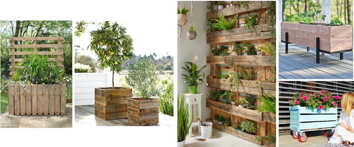 Jardineras hechas con palets