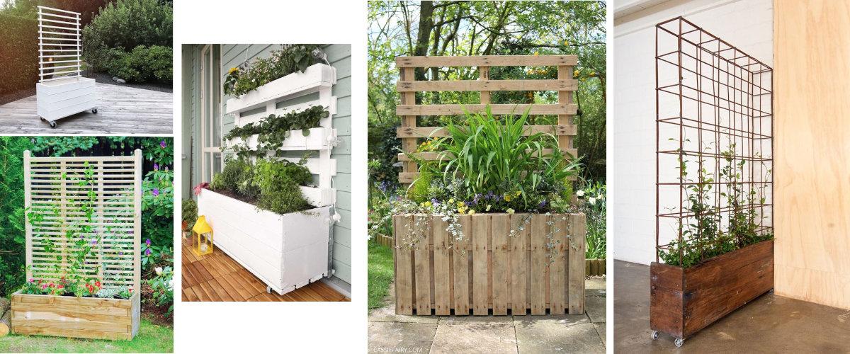 Jardineras para separar ambientes