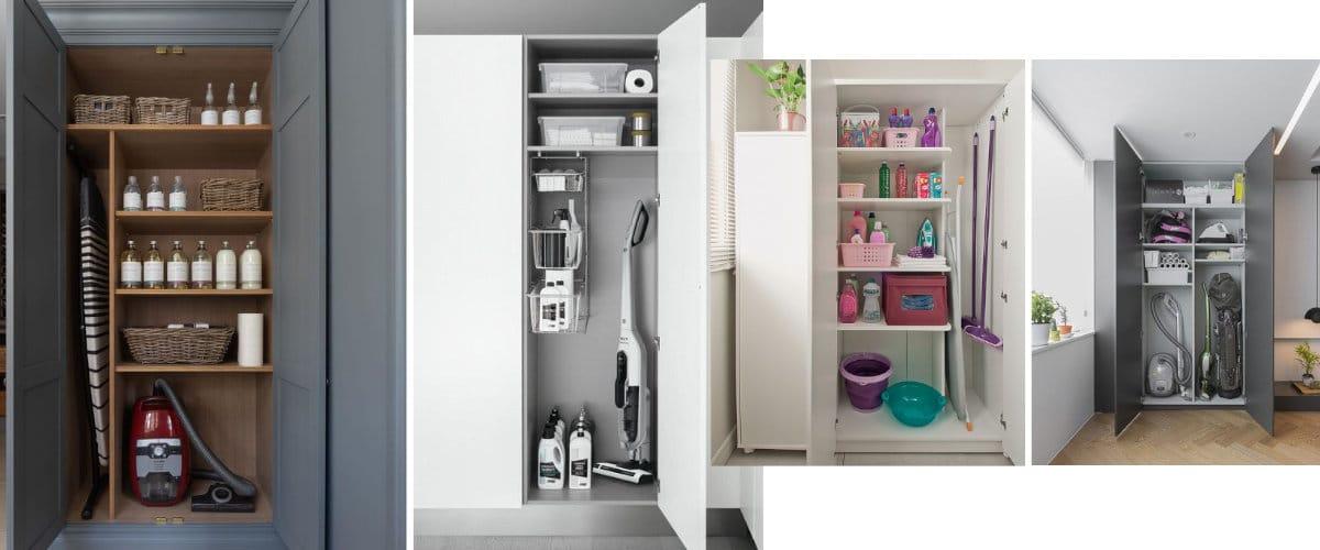 Organización del armario de escobas