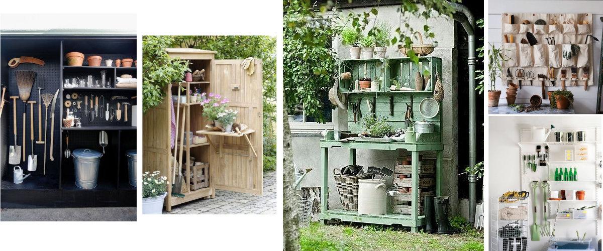 Ideas para organizar útiles de jardinería