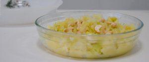 Puré de patatas y calabacín
