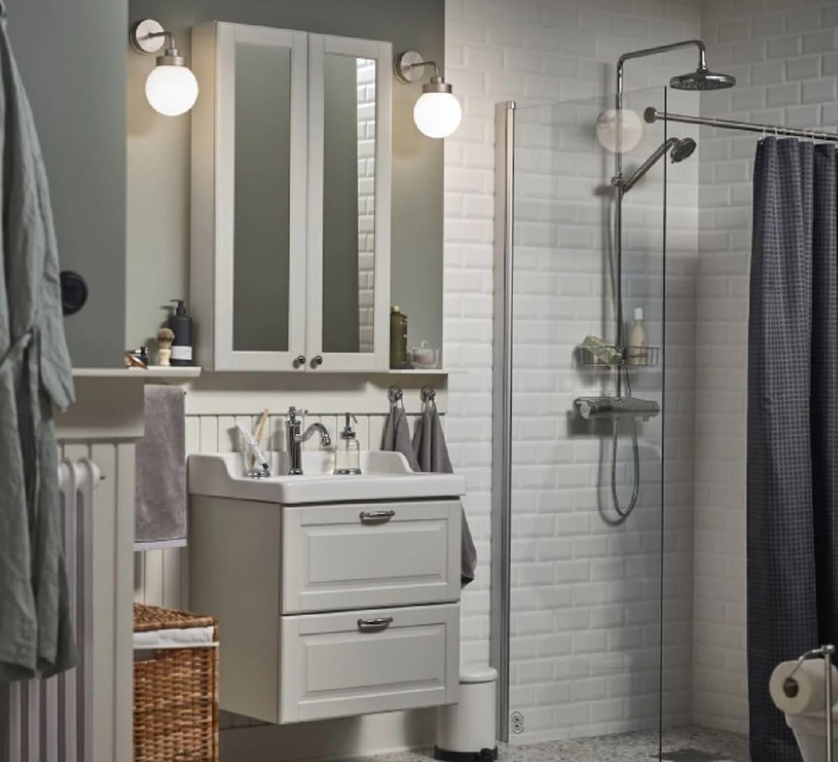 Baño sencillo Ikea