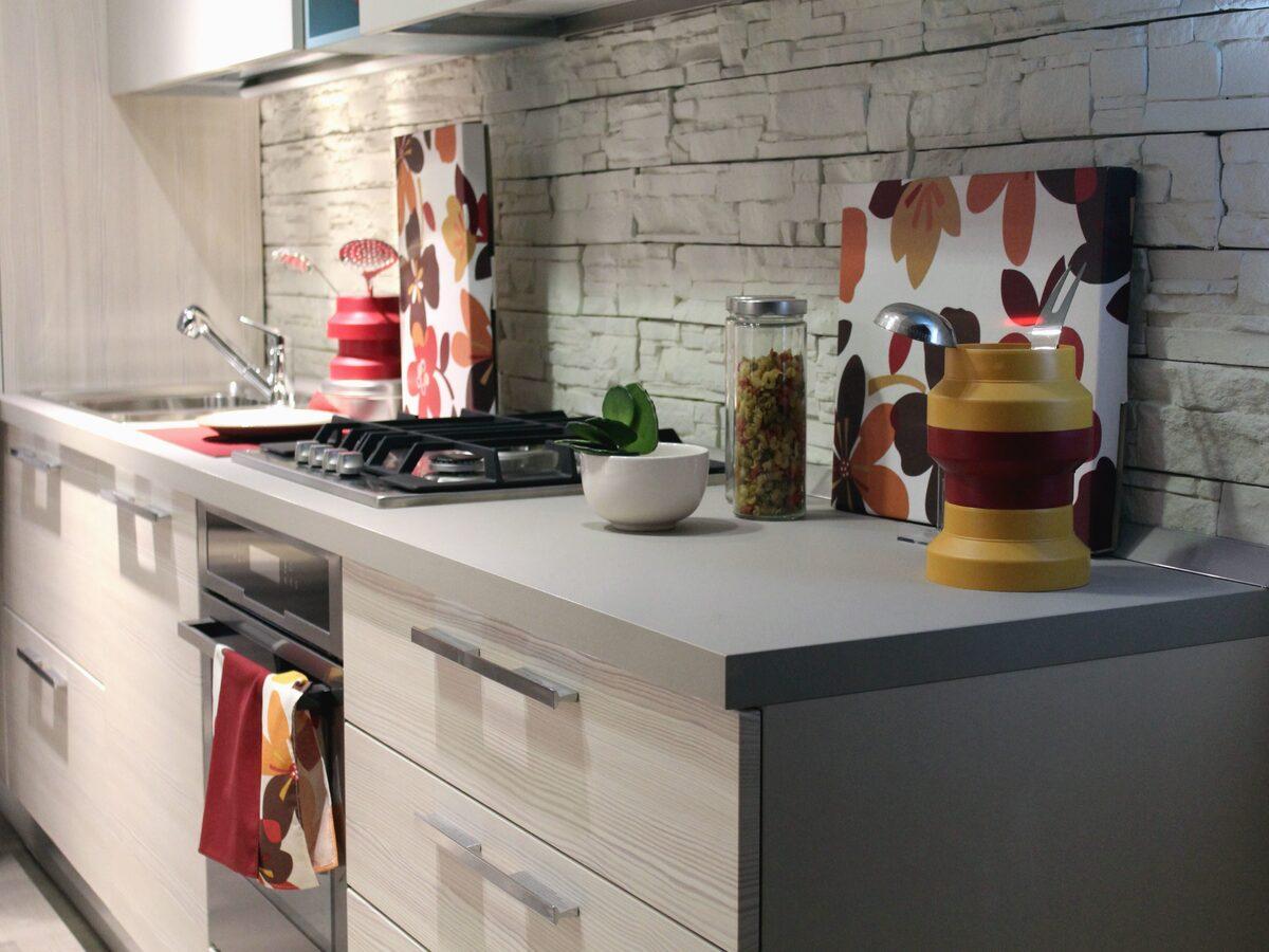 combinar gris en cocina