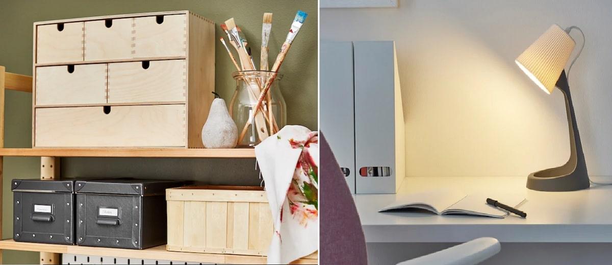 mini cómoda y flexo decora tu mesa