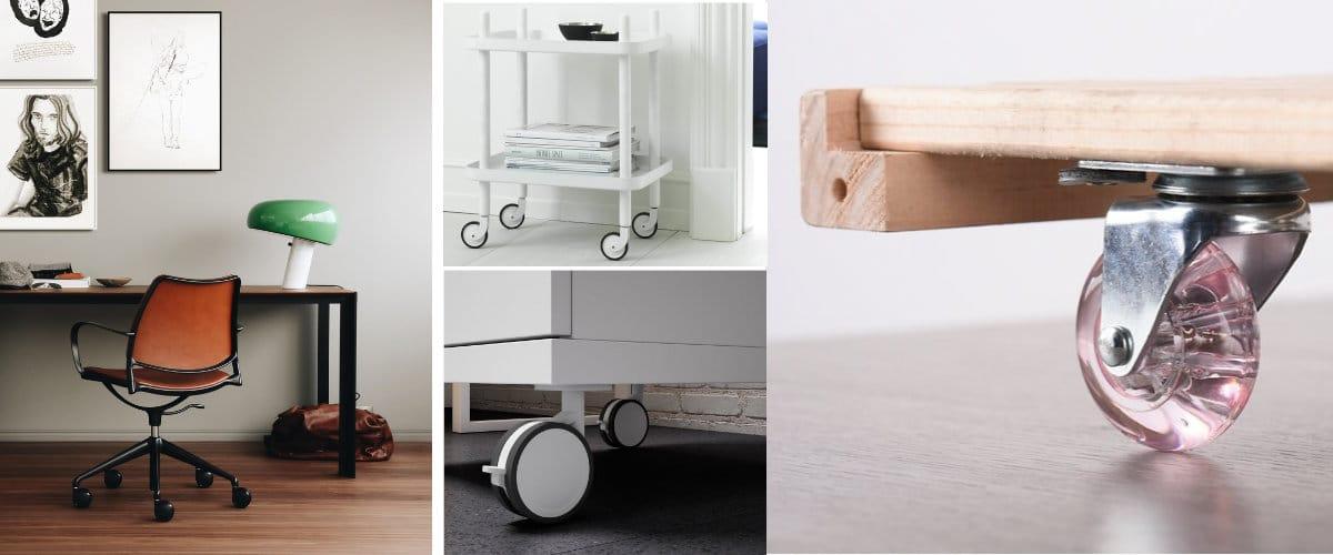 Ruedas para muebles modernos