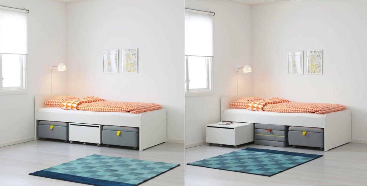 cama con cajones adicionales