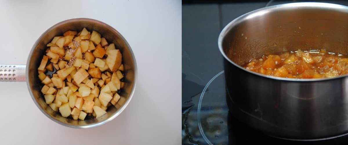 Tempeh con chutney de manzana