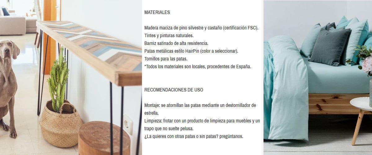 Muebles y textiles sostenibles