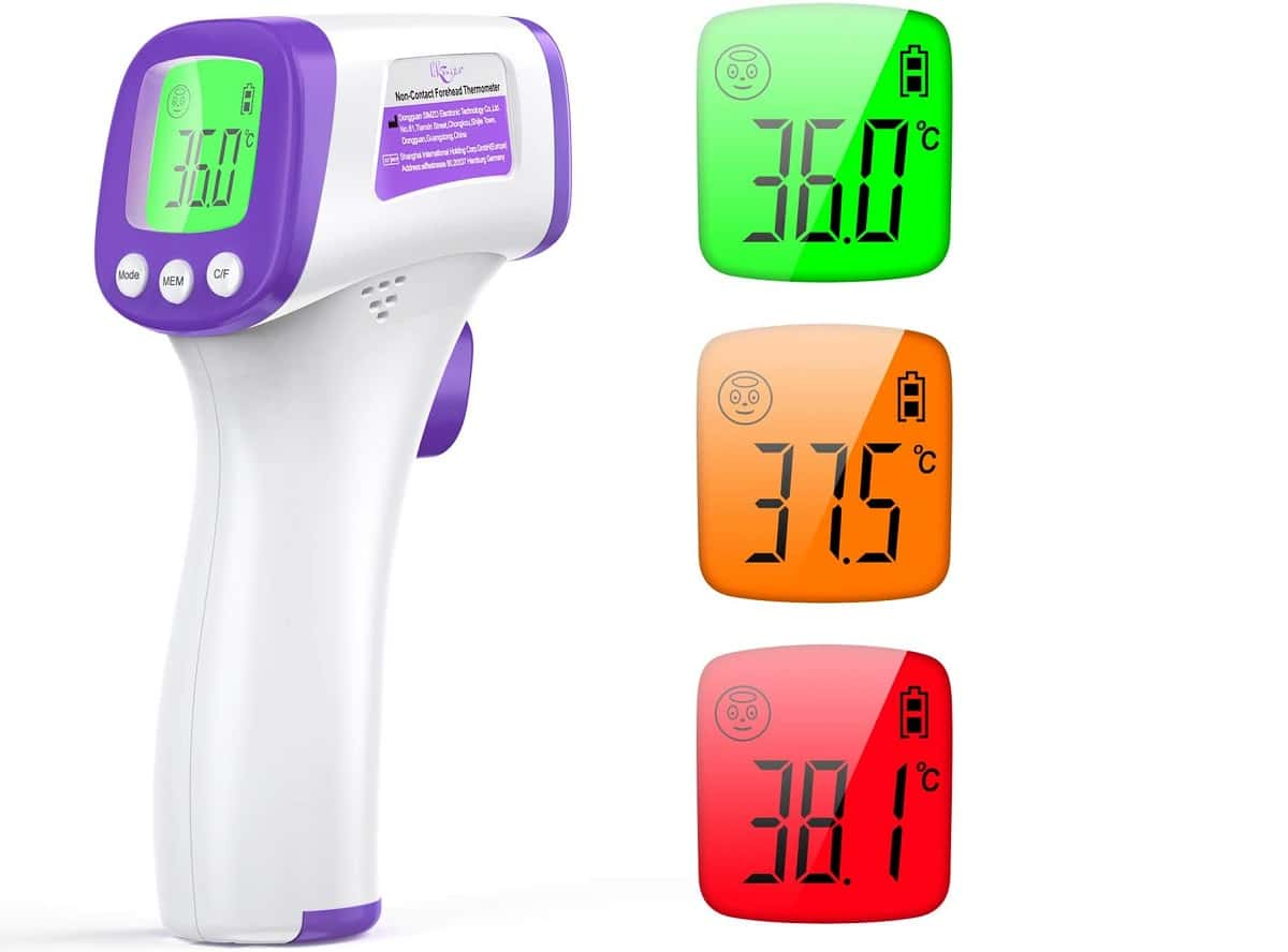 Termómetro infrarrojo de frente preciso