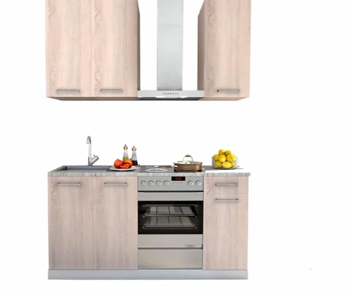 cocina compacta madera