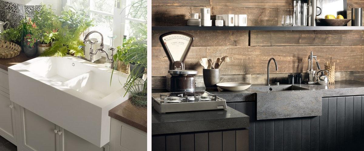 Fregaderos estilo casa de campo modernos