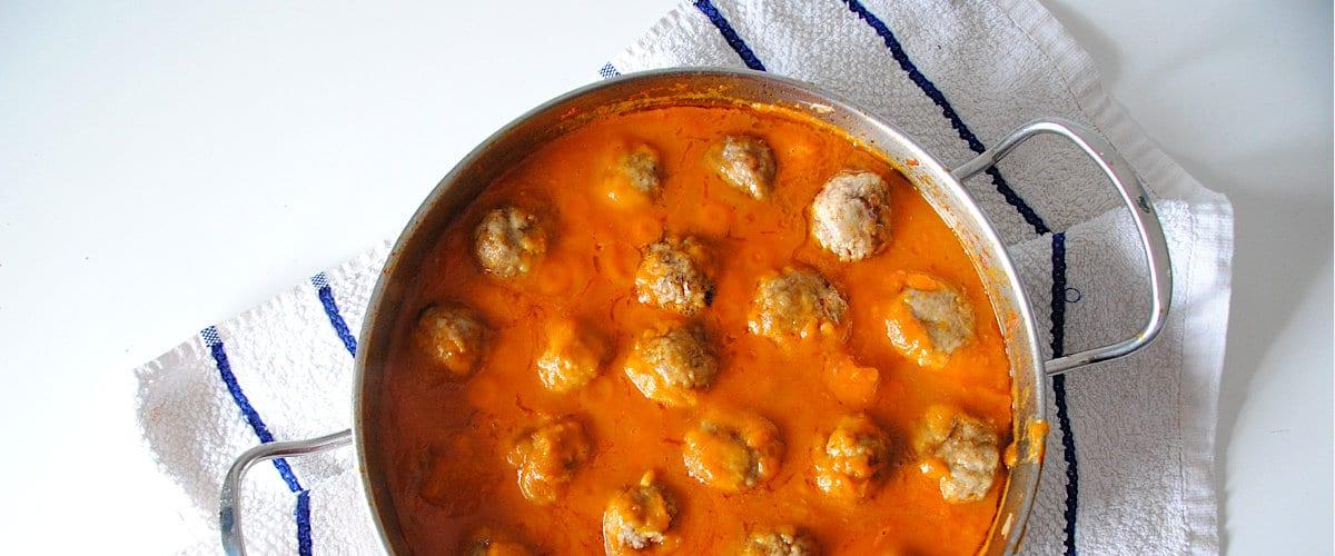 Albóndigas en salsa de calabaza