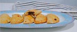 Empanadillas caseras de champiñones y pimiento