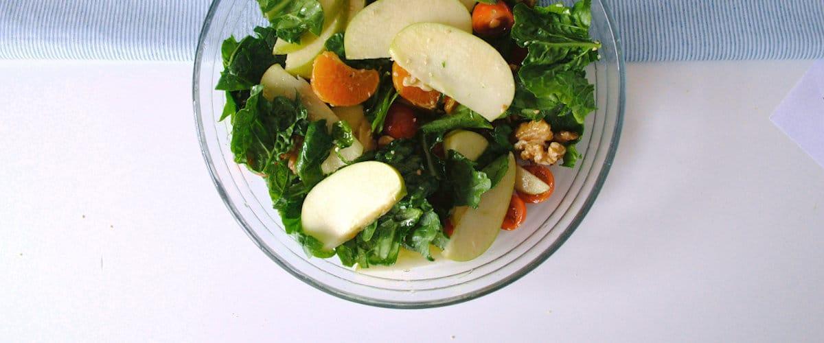Ensalada de mandarina y manzana