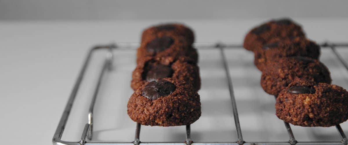 Galletas de cacao con chips de chocolate