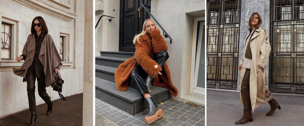 Estilismos de invierno con pantalones de cuero