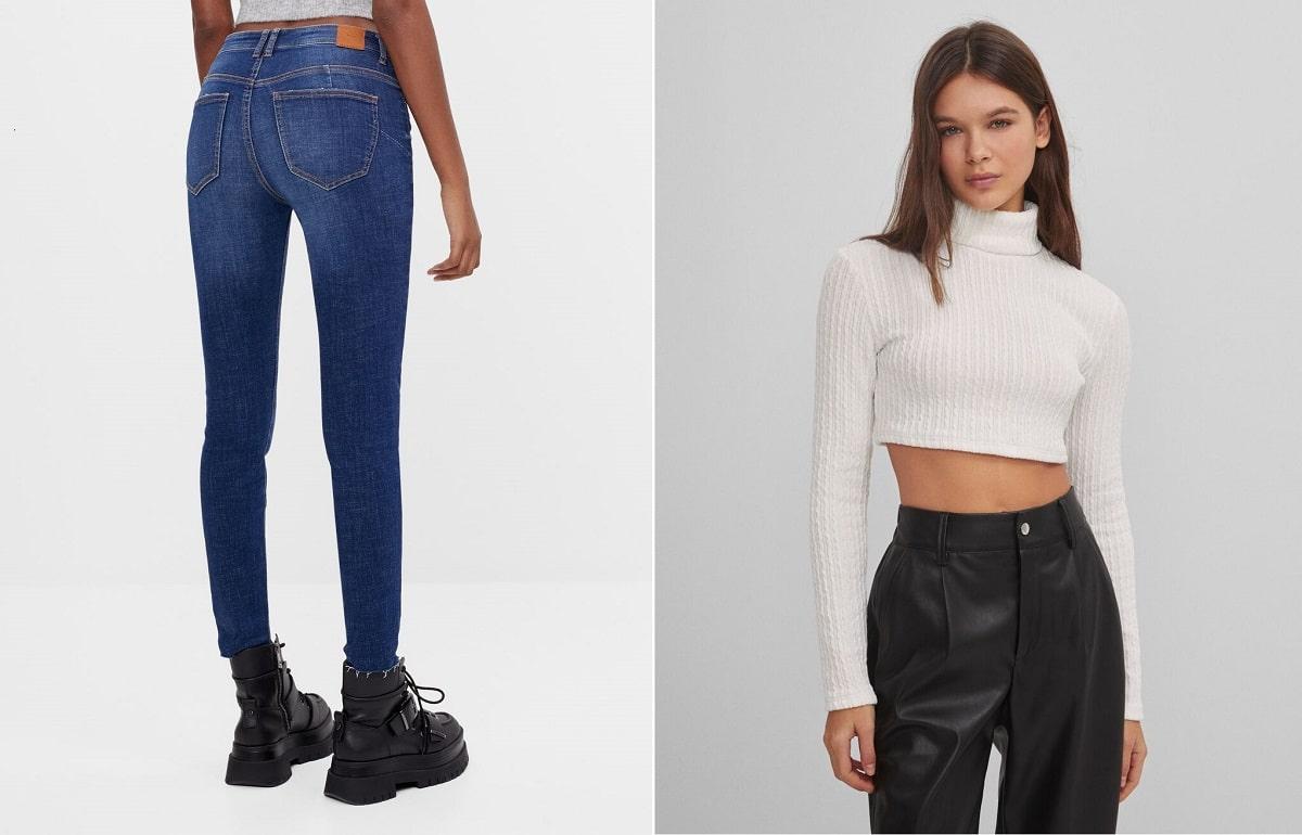 pantalones y top bershka