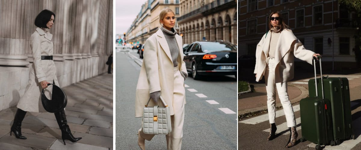 Looks con abrigo blanco