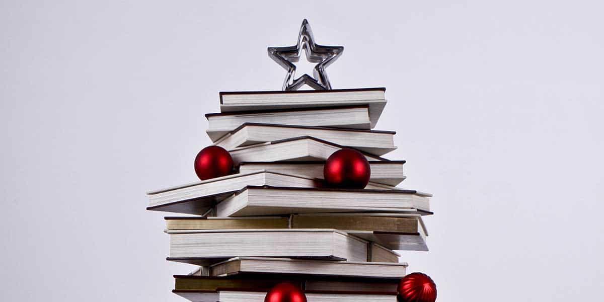 Libros para un árbol de Navidad