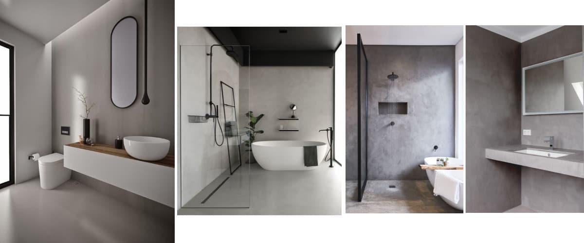 Baños en tonos grises