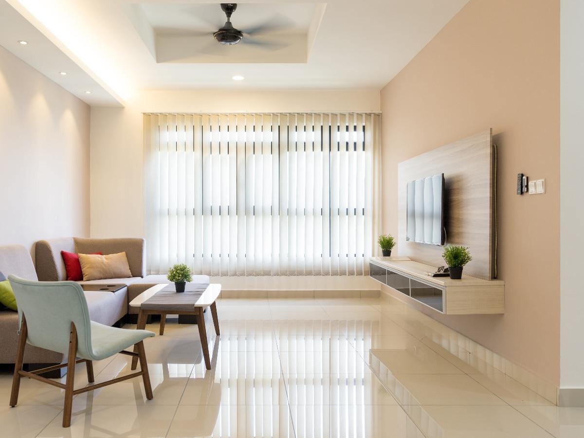 Idea de salón elegante minimalista