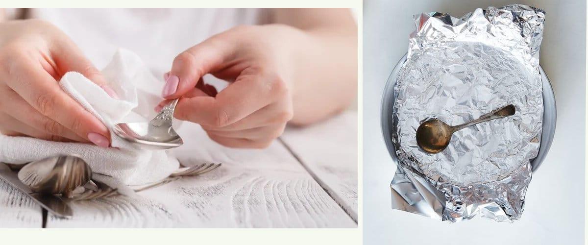 Limpiar cubiertos de plata