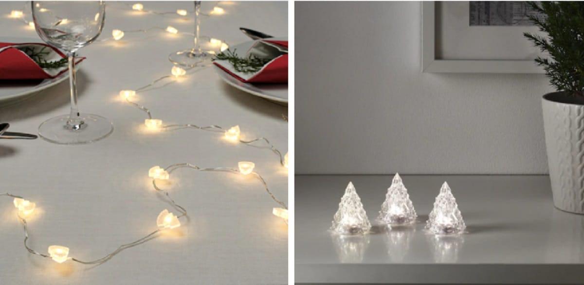 luces para mesa de navidad