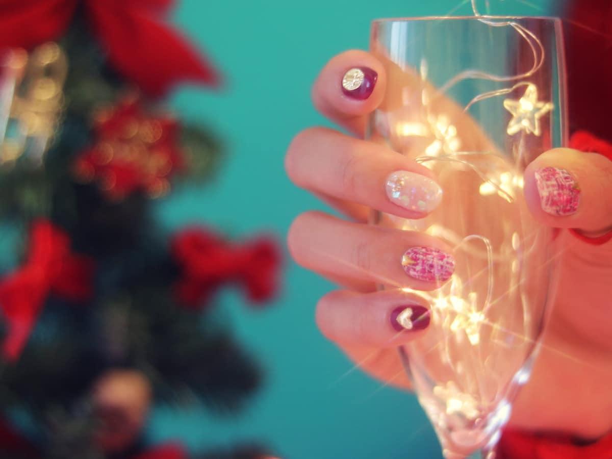 manicura combinada para navidad