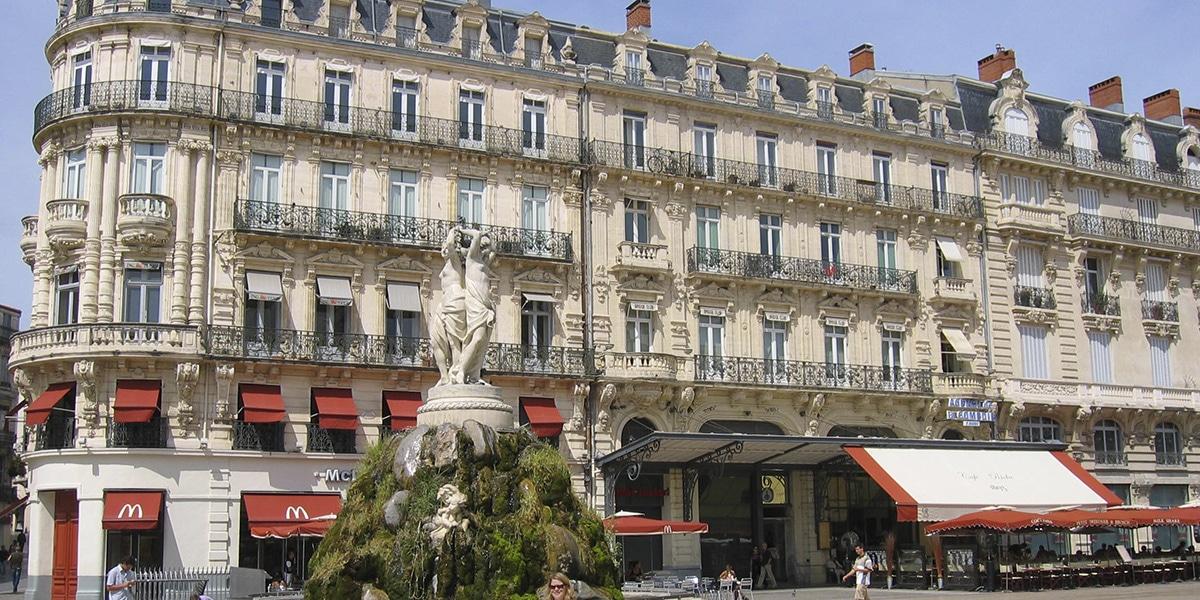 Plaza en Montpellier