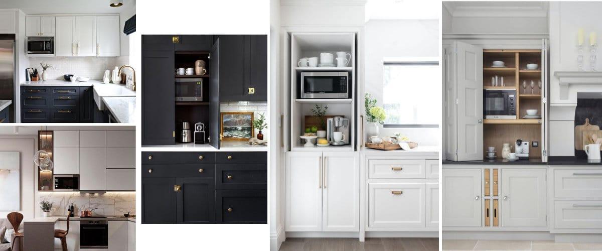 Microondas en la cocina