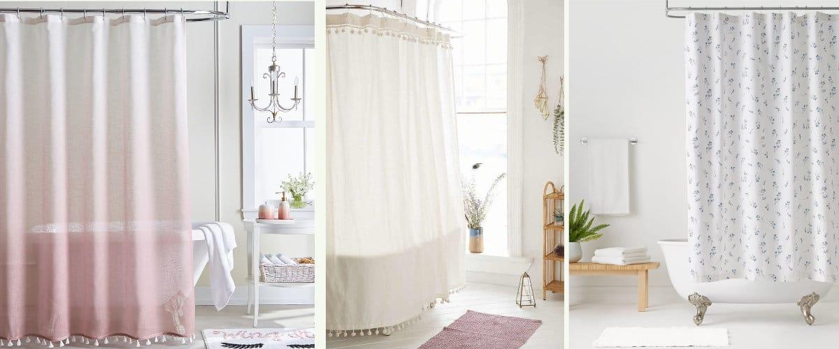 Cortinas de ducha de tela