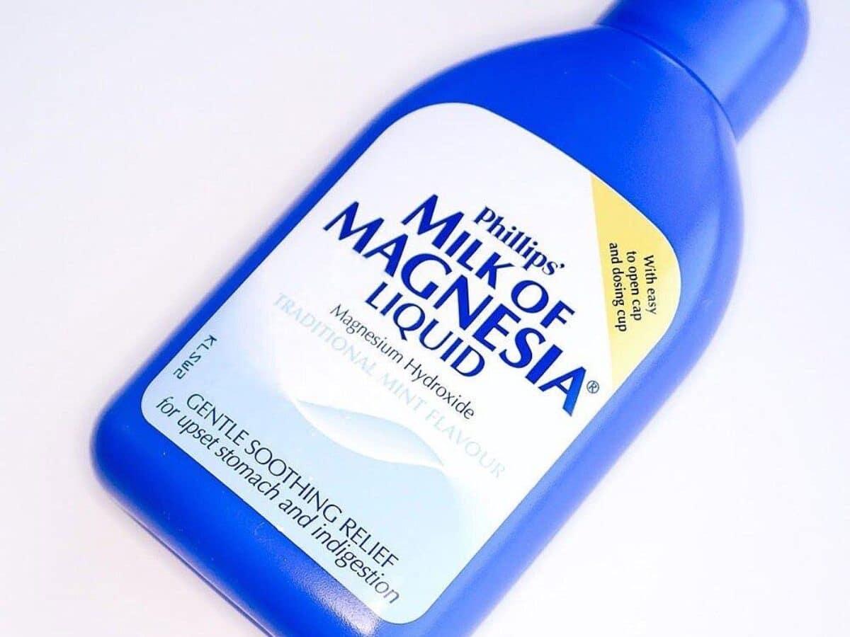 bote de leche de magnesia