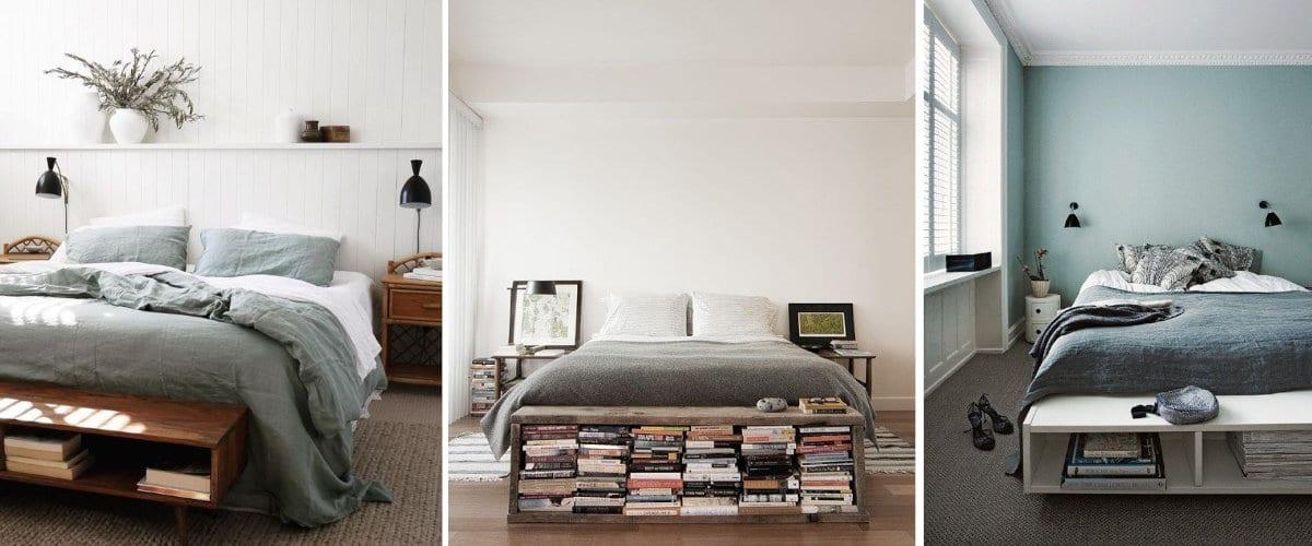 Librería en dormitorio