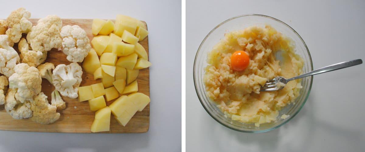 Coliflor con puré de patata y pimentón