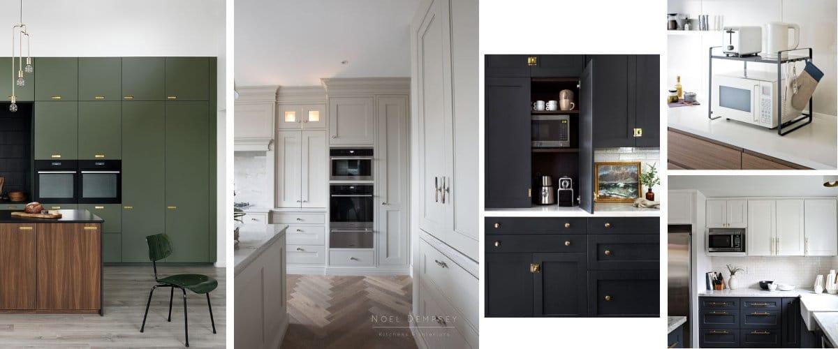 ubicar el microondas en la cocina