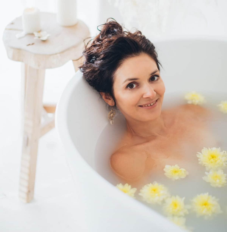 Bañera de flores