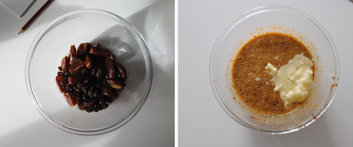 Bizcocho bicolor denso de chocolate y vainilla