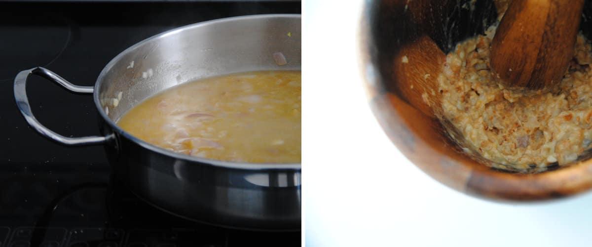 Merluza en salsa de almendras