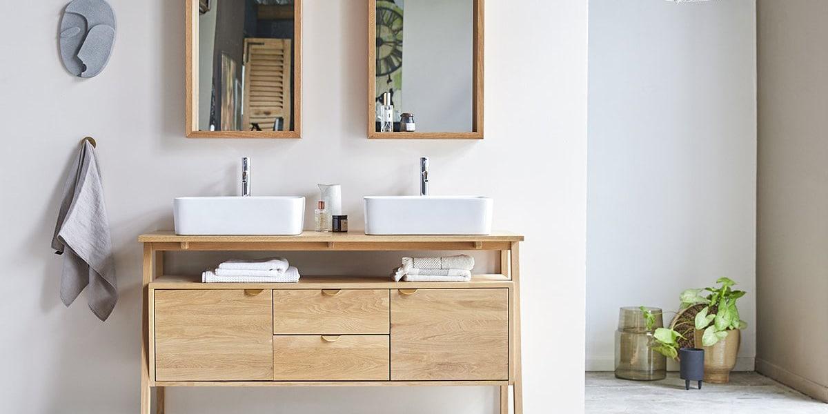 Mueble doble de lavabo