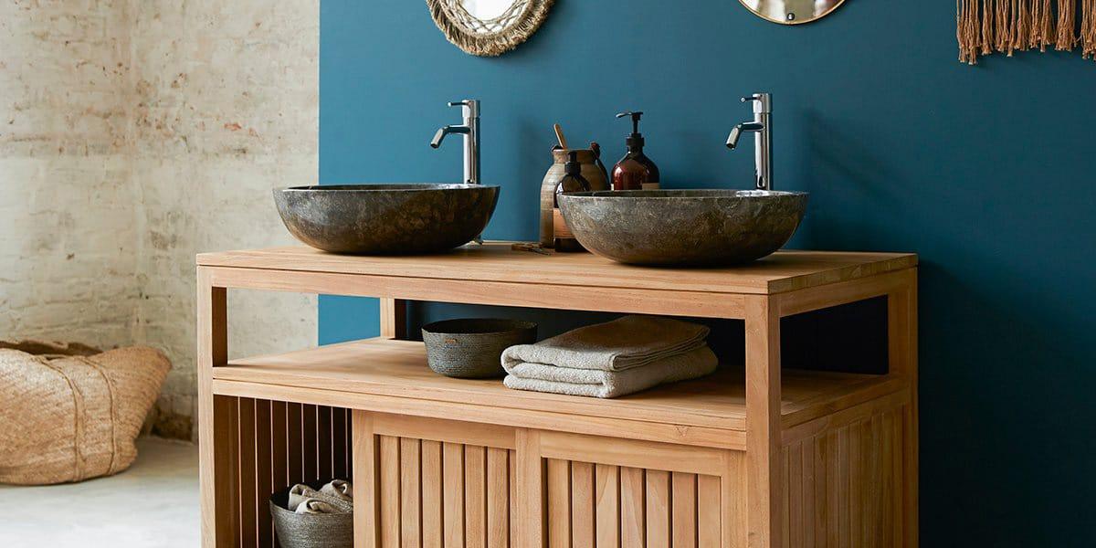 Muebles de lavabo en madera