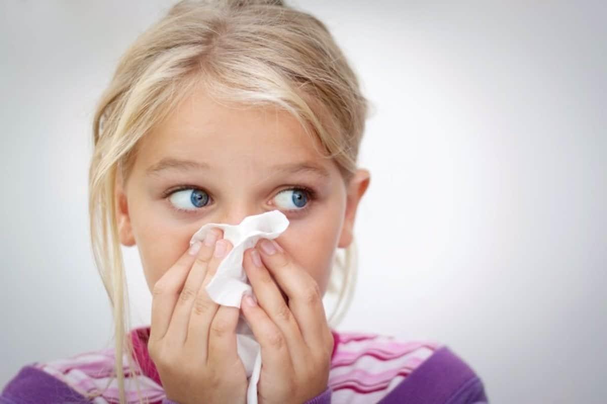 Niña alergia