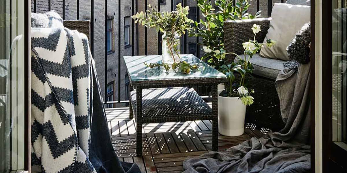 Textiles para decorar el balcón