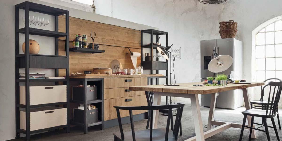 Cocinas industriales con muebles de metal