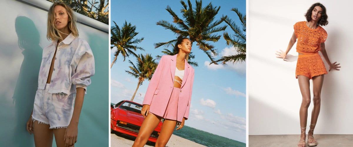 Coloridos conjuntos de dos piezas de Zara