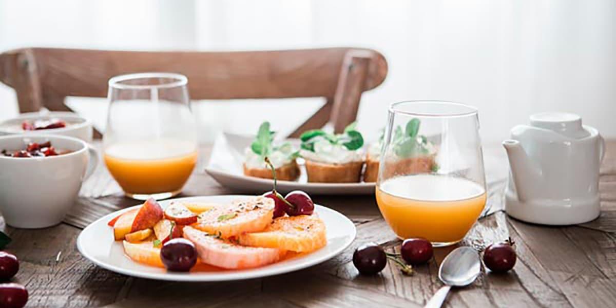 Desayuno sano por la mañana